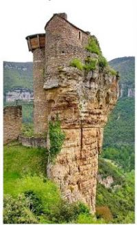 puzzle 396  Castle South- France - Gorge du Tarn