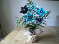 the blues my origami flowers