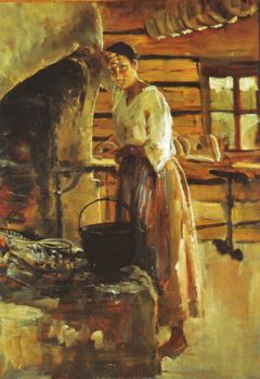 Cooking Whitefish by Akseli Gallen-Kallela