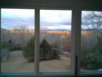 Sunroom view at sunset