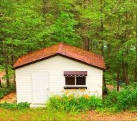 Bunkhouse in the woods.