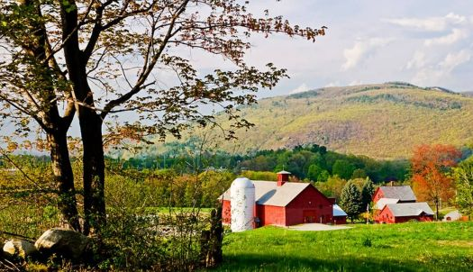 Theme: Traditional Vermont Farmhouse, Barn, Silo, Out Buildings