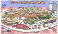 Map of Thanksgiving Dinner