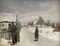 "Laurits Andersen Ring, ""The Painter in the Village"""
