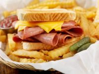 Fried Bologna & Cheese