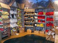 stuffed animals on display