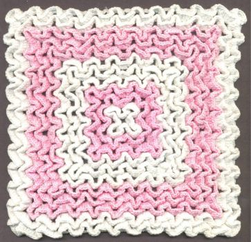 Squiggly crocheted hot mat
