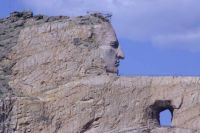 Crazy Horse's finely chiseled features