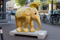 An elephant with golden hearts :-)