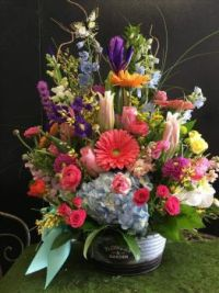 Happiness  is.....Lovely Mixed Flower Bouquet.