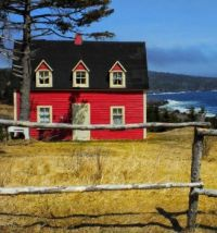 Red Cottage by the Ocean....