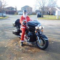 "Bikler ""Santa Baby ""  need a heavier suit it's cold outside"