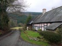 Thatced Cottage. Shropshire Hills Area.
