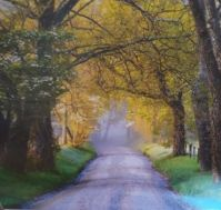 Driving down a scenic path    Landscapes Print by Greenbrier International, Inc