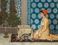 Osman Hamdi Bey (Turkish, 1842–1910) Young Woman Reading (1880)