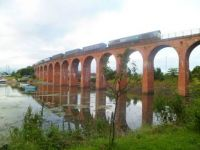 Scotland: Montrose - Train Crossing Bridge