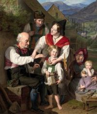 Ferdinand Georg Waldmüller - The Class Prize the First Day of School