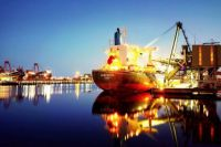 Port Kembla at night.