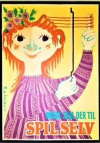Themes Vintage illustrations/pictures - Danish Music Poster