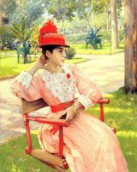 Chase William Merritt: Tarde en el parque,1890