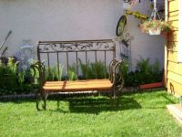 Bench made from old sleigh bed frame