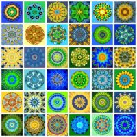 A Splash of Colors - Blue, Green & Yellow! #4 (extra large)