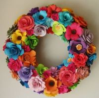 paper.flower.wreath