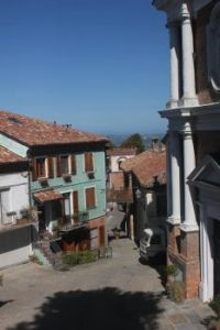Small town on an italian mountainside