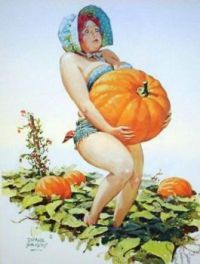 "Hilda. ""That is a large pumpkin!"""
