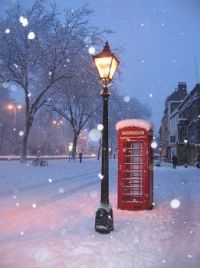 Never been to England, sure miss the phone boxes,  winter