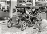 San Francisco 1907 Buick on San Francisco's Auto Row at Van Ness Avenue and California Street in 1929