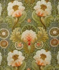 Silk Embroidery with Flowers and Leaves, attributed to Leek Embroidery Society, 1885