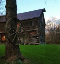 Little Falls NY wheel by barn