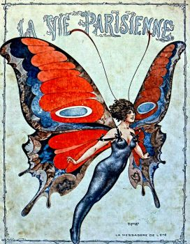 cover art for La Vie Parisienne magazine - May, 1917