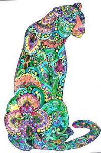 Coloring Jaguar Cat