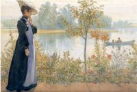 "Carl Larsson, ""Karin on the Shore"""