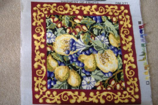 Tapestry Cushion - Harvest of Fruits