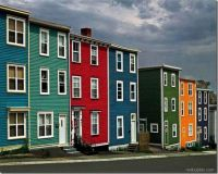 colourful houses in St John's Newfoundland