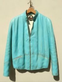 """Carved Wood'' by Fraser Smith ~ Turquoise Coat"