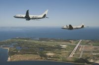 P-8A and P-3C over Pax River NAS