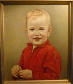 Portrait that my wife painted of our late son Howard when he was very young