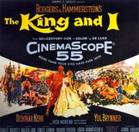 THE KING & I - 1956 MOVIE POSTER DEBORAH KERR, YUL BRYNNER