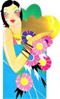 Themes Vintage illustrations/pictures - Art Deco Lady