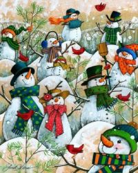 A Hill Of a Lot of Snowmen by Janet Stever