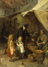 "Felix Schlesinger, ""At the Market"""