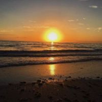 Sunset on th beach