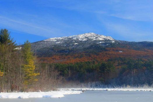 Late Foliage And Snow, Mt Monadnock, New Hampshire