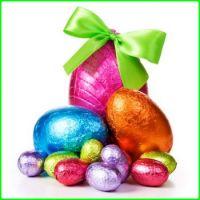 Easter Bunny's Stash of Chocolate Foil Eggs