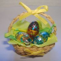 1/12th Scale Easter Egg Basket for Dolls House