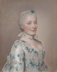 1749 Portrait of Marie-Josèphe of Saxony, Dauphine of France  Jean-Étienne Liotard